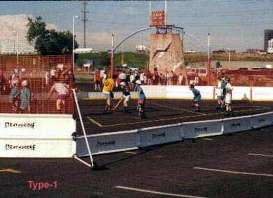 hockey rink, soccer arena