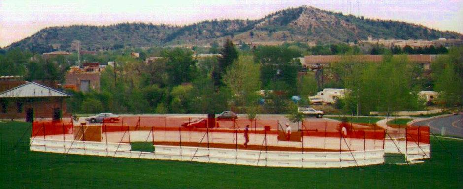 hockey rink, soccer arena, lacrosse arena