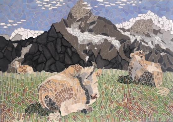 Simmental Cattle under Wetterhorn