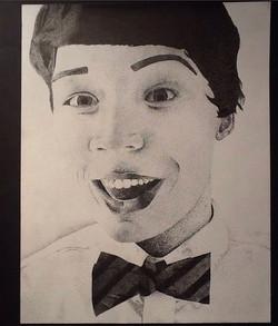Pointillist Portrait, Leanne Martin