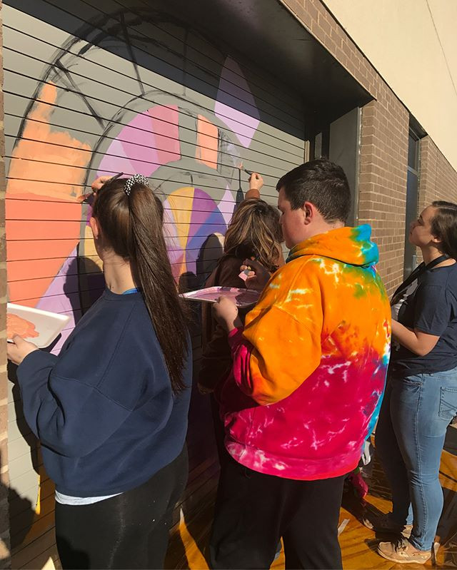 Today the NHS Art Club worked on paintin