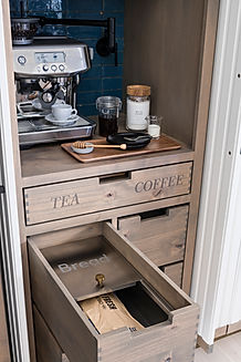 Stainless Steel Bread Drawer Inserts custom made from Bradco Stainless Products for the House Beautiful Whole Home Concept 2020 Bradco Stainless Products Studio Dearborn