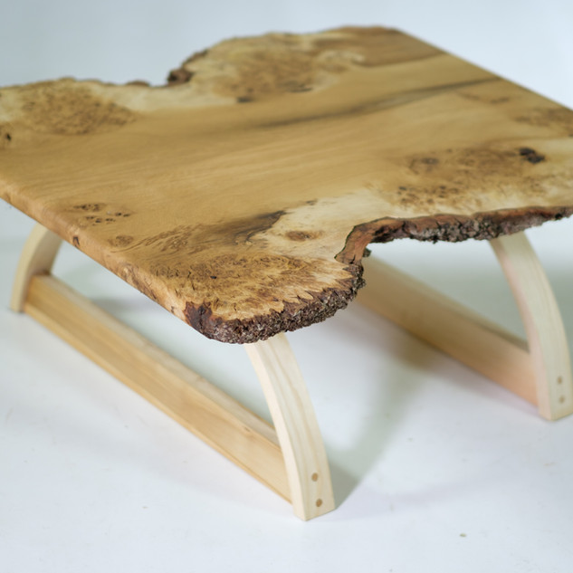 Burl oak live edge coffee table