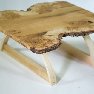 Burl oak live edge coffee table