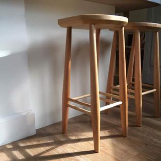 Beech and ash bar stools