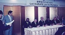 Meeting press conference of Karate Osaka, Japan 1996