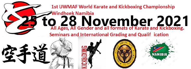 1st World Championships Namibia 2021 Karate and Kickboxing