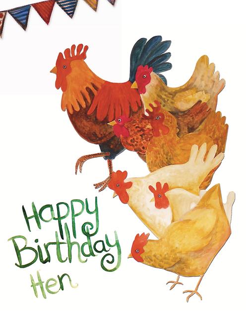 Happy Birthday Hen | Card