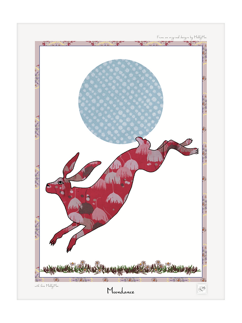 Art print Hare with border