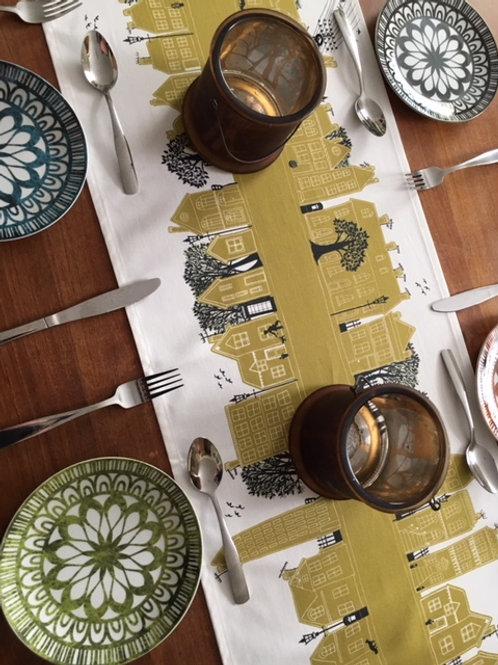 On the Street English Mustard  | Table Runner