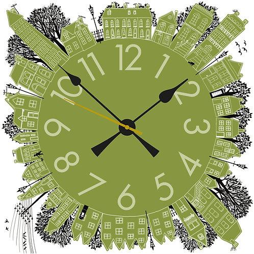 Green On the Street | Clock