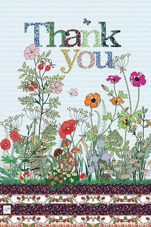 Hedgerow Thank you | Tea towel