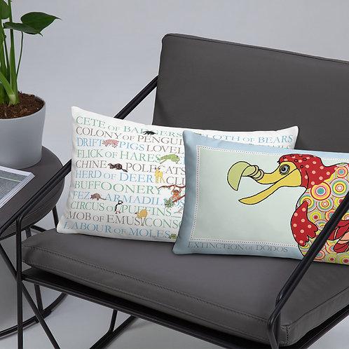 Animal Collective Nouns | Extinction of Dodos | Throw Cushion