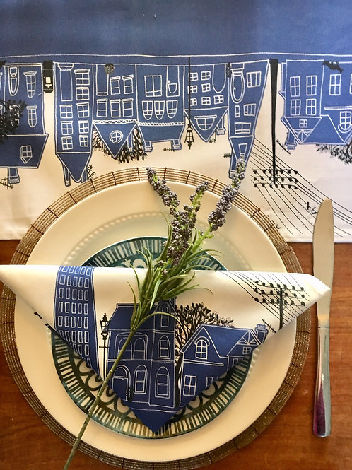 On the Street Royal Blue  | Napkins (2)