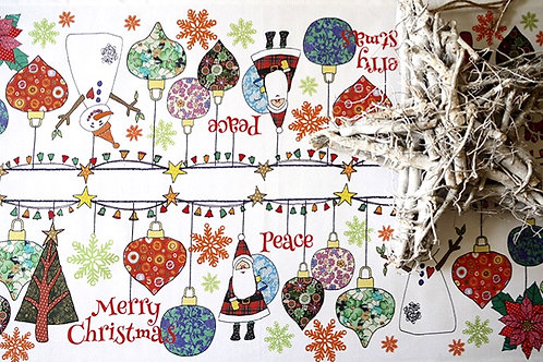 Christmas Ornaments | Runner • Napkins • Tea Towel