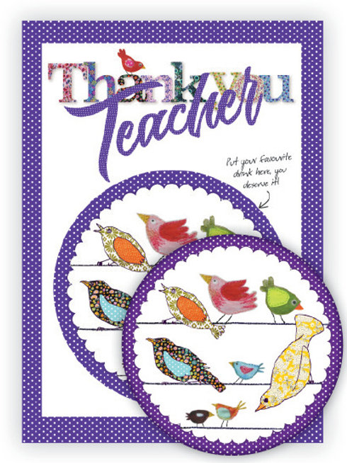 Thank You Teacher | Coaster & Card