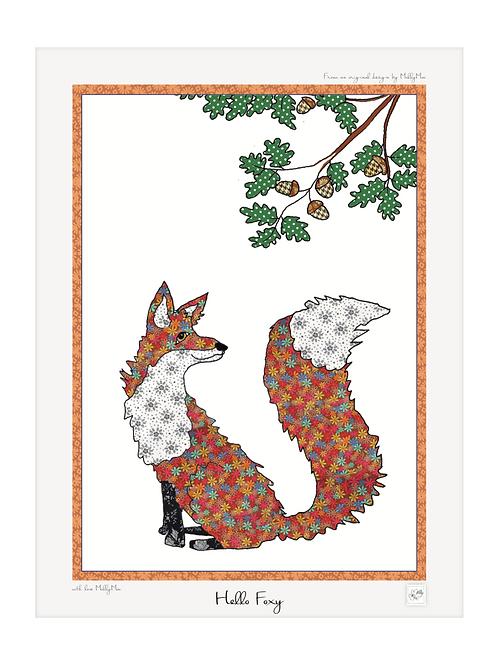 Art print Fox with border