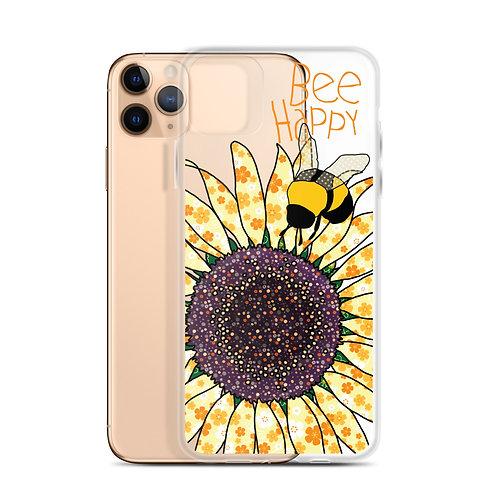 Bee Happy Sunflower | iPhone Case