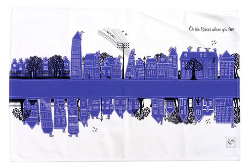 Seconds | On the Street Blue  | Tea towel