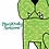 Tea towel Green bull dog with slogan 'pawsitively awesome' kitchen towel, cotton and printed