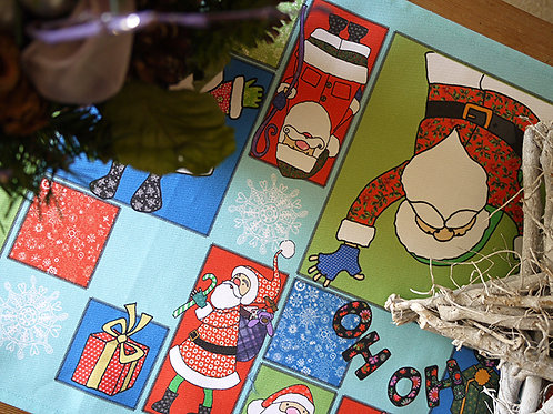 Santa Claus Happy Christmas to All  | Table Runner