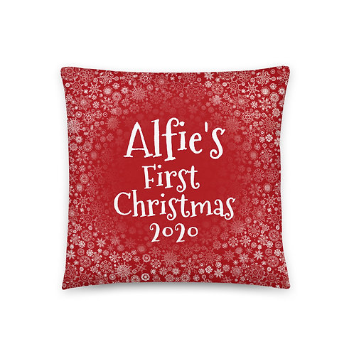 Christmas Snowflake (Personalised) | Throw Cushion