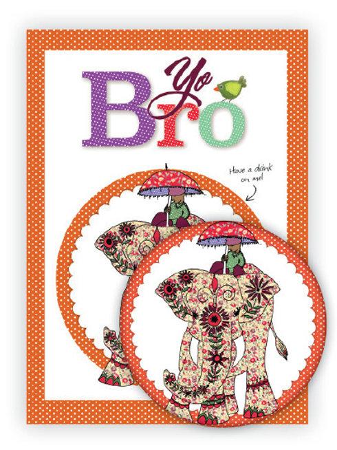 Yo Bro | Coaster & Card