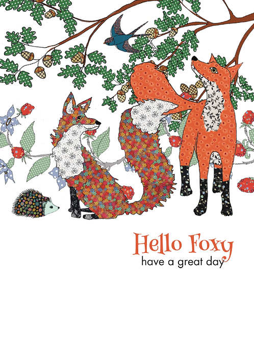 Hello Foxy, have a great day | Card