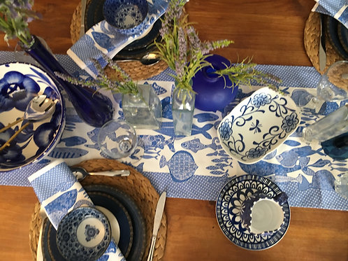 Something Fishy Blue | Table Runner