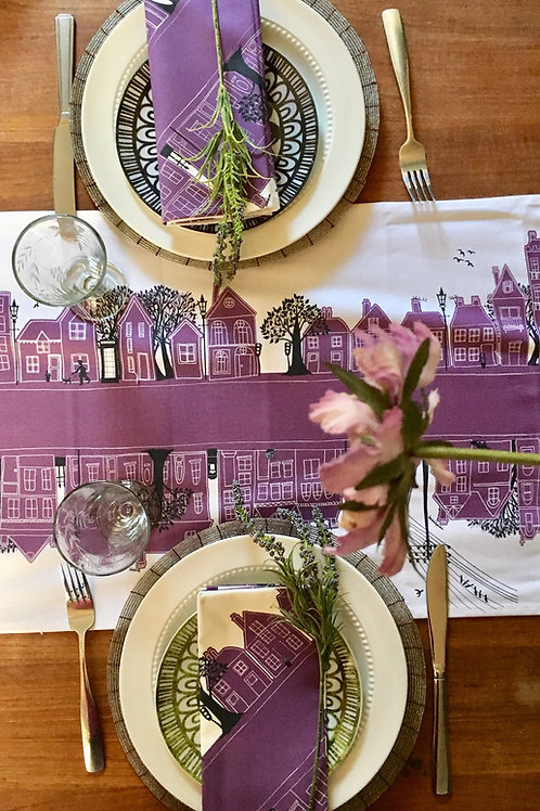 Seconds | On the Street Deep Purple  | Table Runner