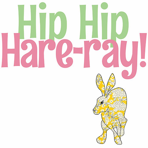 Hip Hip Hare-ray! | Card