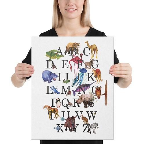 Animal Alphabet | Canvas Print