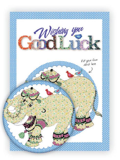 Good Luck | Coaster & Card
