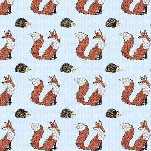 Foxes and Hedgehogs | PVC Oilcloth