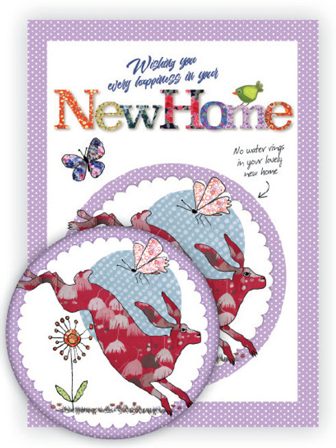 New Home   Coaster & Card