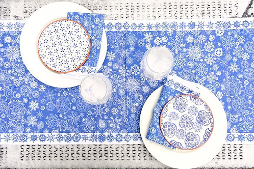 Blue Let it Snow | Table Runner