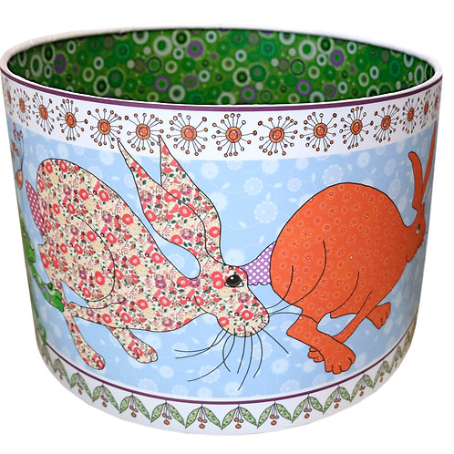 Flick of Hares | Lined Lampshade