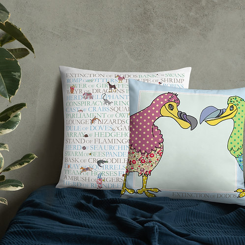 Animal Collective Nouns | Extinction of Dodos | Throw Cushion | 22""