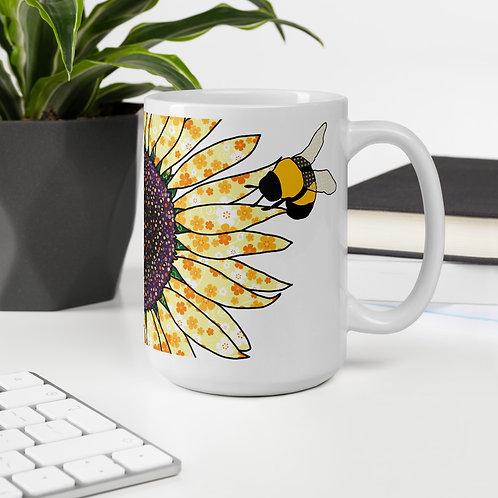 Bee Happy Sunflower | Mug