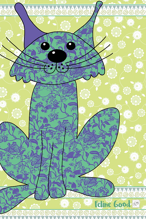 Feline Good Cat  | Tea towel