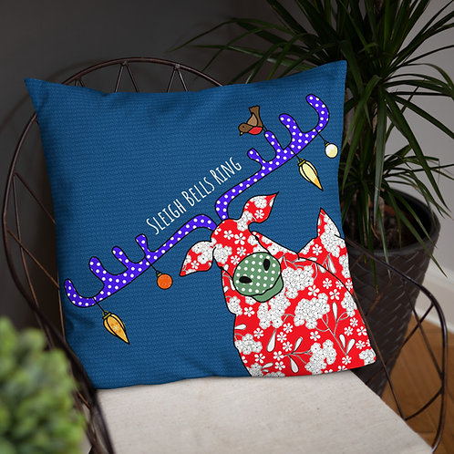 Christmas Reindeer | Throw Cushion