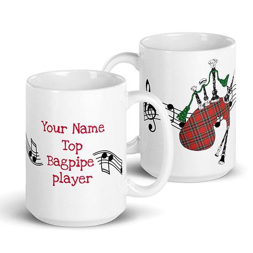 Bagpipe Mug   Personalised