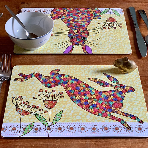 Flick of Hares | Placemats