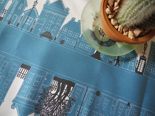 On the Street Teal  | Table Runner