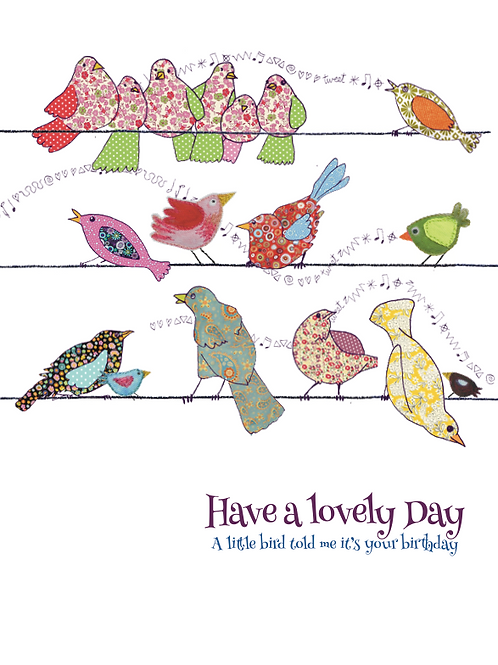 A little bird told me it's your birthday  | Card