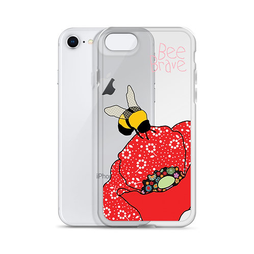 Bee Brave Poppy | iPhone Case