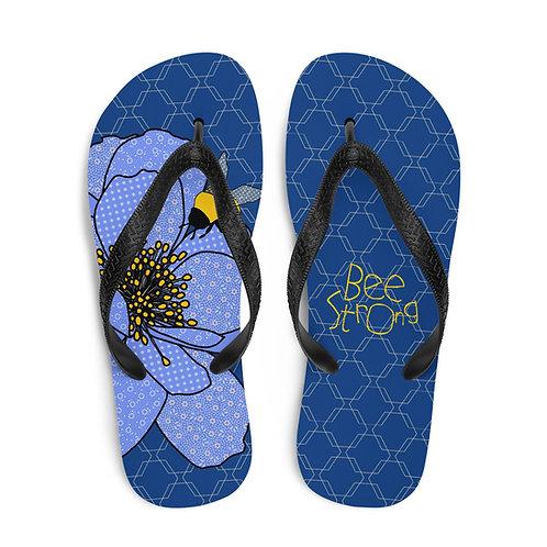 Bee Strong Peony | Flip-Flops