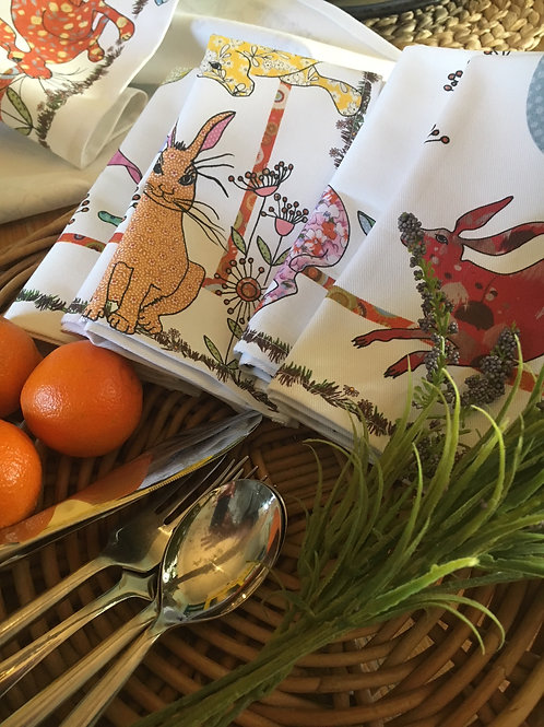 Flick of Hares | Napkins (2)