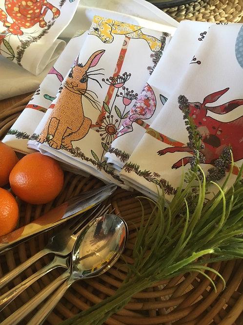 Flick of Hares | Napkins (2)