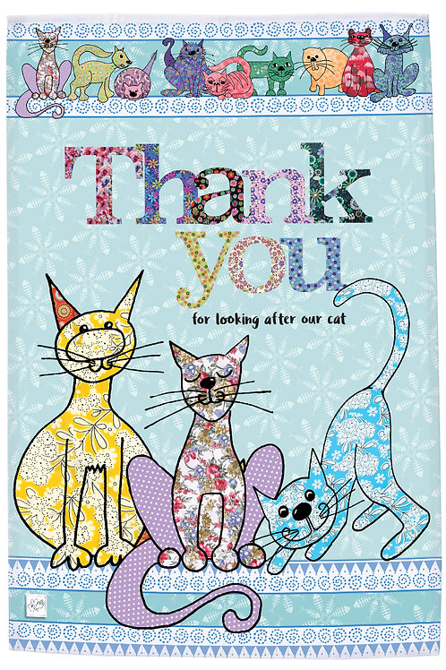 MollyMac Thank you for looking after our Cat TeaTowel, printed kitchen towel